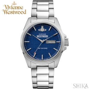 (5年保証)  ヴィヴィアンウエストウッド VV063NVSL 時計 腕時計 メンズ ネイビー シルバー|ryus-select