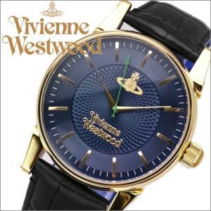 ヴィヴィアンウエストウッド/Vivienne Westwood メンズ 腕時計  VV065NVBK/ネイビー×ゴールド/ブラックレザー|ryus-select