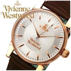 【ショップ袋プレゼント!】ヴィヴィアンウエストウッドメンズ 腕時計 【VV065RSBR】シルバー×ピンクゴールド ブラウンレザー|ryus-select
