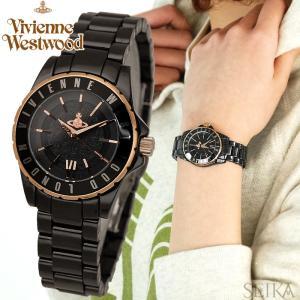 ヴィヴィアンウエストウッド セラミック時計 腕時計 レディースブラック ピンクゴールド VV088RSBK|ryus-select
