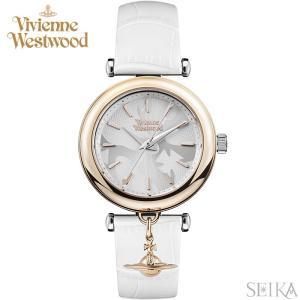 (5年保証) 時計 ヴィヴィアンウエストウッド Vivienne Westwood VV108RSWH 腕時計 レディース ホワイト レザー|ryus-select