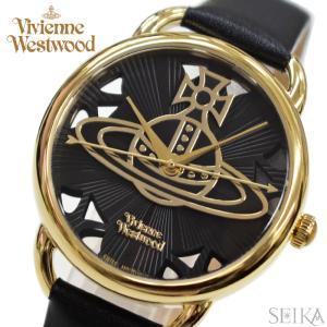 【商品入れ替えクリアランス】(ショップ袋付) ヴィヴィアンウエストウッド  時計 腕時計 レディース ブラック ブラック レザー VV163BKBK|ryus-select