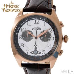 ヴィヴィアンウエストウッド VV176WHBR メンズ 時計 腕時計 ホワイト ブラウン レザー|ryus-select