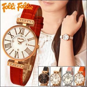 【当店ならお得クーポンあり】フォリフォリ/Folli Follie レディース 時計 腕時計 (WF13B014)ブラック/ホワイト/レッド/ピンク/オレンジ|ryus-select