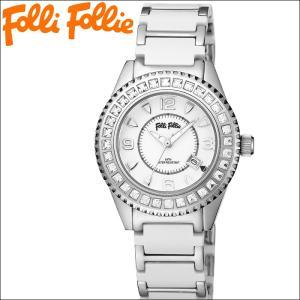 【当店ならお得クーポンあり】フォリフォリ 腕時計/Folli Follie WF5T138BDW レディース 時計ホワイトセラミック/クリスタル フォリフォリ|ryus-select