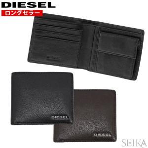 (41) DIESEL ディーゼル 二つ折り財布 小銭入れ付HIRESH S XS レザーX0392...