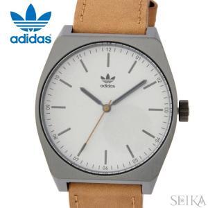 【当店ならお得クーポンあり】アディダス adidas Process_L1【11】Z05-2916(Z05-2916-00)時計 腕時計 メンズ レディース シルバー ブラウン レザー|ryus-select