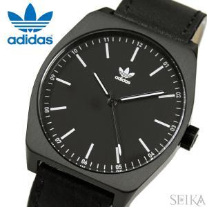 【当店ならお得クーポンあり】アディダス adidas Process_L1【10】Z05-756(Z05-756-00)時計 腕時計 メンズ レディース ブラック レザー|ryus-select