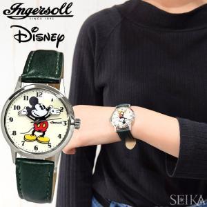 インガソール ディズニー Ingersoll Disney Classic CollectionZR26163(15) 35mm シルバー ホワイト グリーンメンズ レディース 時計 腕時計ミッキー|ryus-select