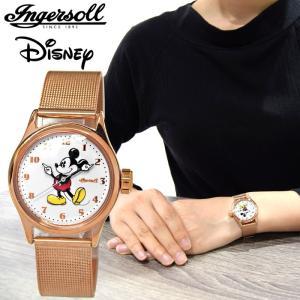 インガソール ディズニー Ingersoll Disney Classic CollectionZR26439(16) 30mm ローズゴールド ホワイトレディース 時計 腕時計ミッキー|ryus-select