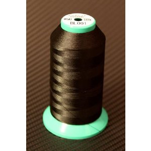 KIRO World  POLYESTER THREAD #001 Black (A50) 3000m|ryuseifw