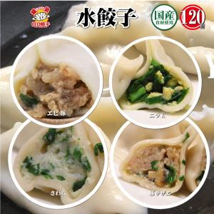 4種水餃子120個2.4kgセット (サワラ600g 30個入+ニラ玉600g 30個入+エビ豚60...