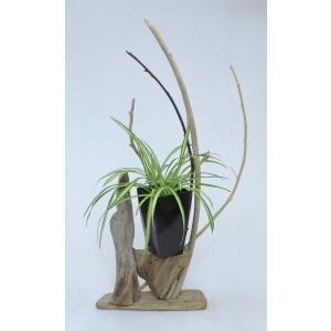 流木アート 花台 A0607 高さ64.5cm  流木のレア一点物 ディスプレィに最適|ryuubokua-to
