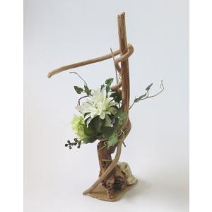 流木アート  A0628 花台・飾り台 高さ55.6cm  流木のレア一点物 ディスプレィに最適|ryuubokua-to