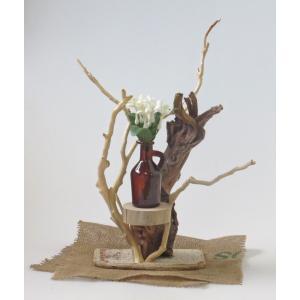 流木アート A0669 花台・飾り台 42.7cm レア素材 アートディスプレィに最適|ryuubokua-to