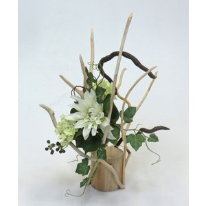 流木アート  A0794 花台・飾り台 高さ47.1cm  流木素材のレア一点物 フラワーベースに最適|ryuubokua-to