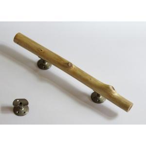 手すり ドアノブ 流木ハンドル H1265 取っ手 長さ45.8cm 中央太さ3.6〜3.8cm おしゃれなインテリア 硬質素材 金具固定済み出荷|ryuubokua-to
