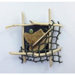 流木インテリア  K0657 サボテン&壁掛けオブジェ 縦44.3cm |ryuubokua-to
