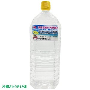 沖縄 浜比嘉島の天然海水 2L|ryuuka