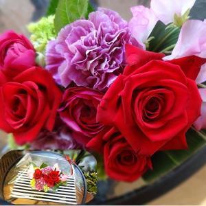母の日に赤薔薇メインのアレンジメイントフラワー生花 送料無料|s-asahiya