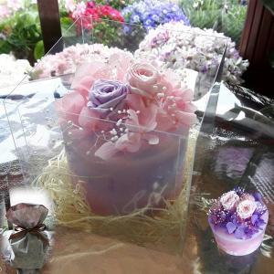 母の日にも LED花キャンドル(ピンク系・ピンク紫系あり) 送料無料|s-asahiya