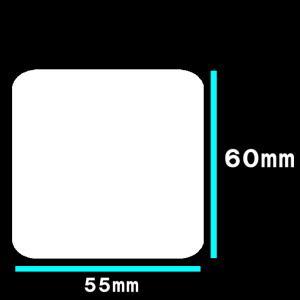 白無地サーマルラベル 送料無料 5巻(5500枚)ラベルサイズ長さ55mm 巾60mm