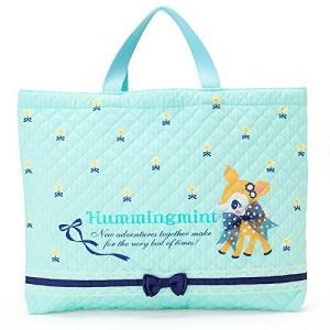 ハミングミント/キルティング手さげバッグ(ストライプ) 01783-3【サンリオ】おけいこバッグ/かばん/手提げ/バンビ|s-bunkadou