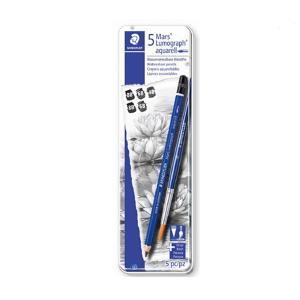 【ステッドラー】STAEDTLER 鉛筆 マルス ルモグラフ アクェレル 水彩鉛筆 メタルケース入りセット/100AG6 デッサン 【メール便OK】|s-bunkadou