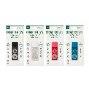 【ミドリ】XS  とっても小さい 修正テープ 黒 白 ピンク 青 3526/デザインフィル ミニ 修正 コンパクト【メール便OK】|s-bunkadou