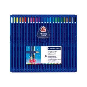 水彩色鉛筆/エルゴソフト アクェレル/ergo soft aquarell/24色セット/156 SB24A5/ステッドラー/STAEDLER【メール便OK】|s-bunkadou