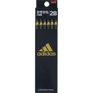 【三菱鉛筆】アディダス adidas 鉛筆 六角 硬度:2B 1ダース / 黒金 /5601【メール便OK】 s-bunkadou
