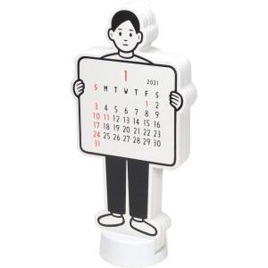グリーティングライフ 2021年 Noritake ダイカット カレンダー ボーイ 卓上 C-1243-NT/メール便NG|s-bunkadou