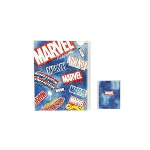6ポケット クリアファイル マーベル MARVE CR47231 デニム / ロゴ 収納 学校 新学期|s-bunkadou