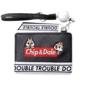 チップとデール リール式 パスケース ロゴ ブラック CR50580 クラックス 定期入れ メール便OK|s-bunkadou