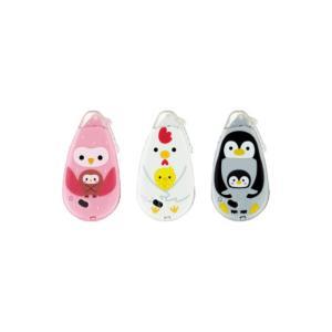 【数量限定】コクヨ テープのり ドットライナープチプラス animal Kids 3個パック フクロウ ペンギン ニワトリ タ-D910-07NX3L2 s-bunkadou