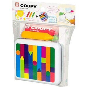 【限定品】クーピー マーカー キャンディ カラー3色+ 缶ケースのセット 明るくフレッシュな配色 FYLM-3JCセット / メール便NG|s-bunkadou