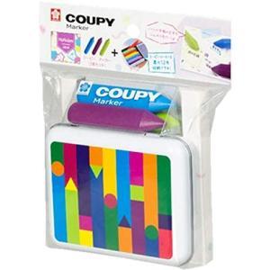 【限定品】クーピー マーカー 和モダン カラー3色 + ケースのセット 発色のよいくすんだ色味 FYLM-3KCセット / メール便NG|s-bunkadou