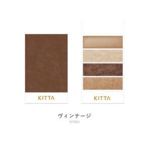 キングジム KITTA キッタ ヴィンテージ KIT051(10枚×4柄) ちいさく持てる マスキングテープ メール便OK|s-bunkadou