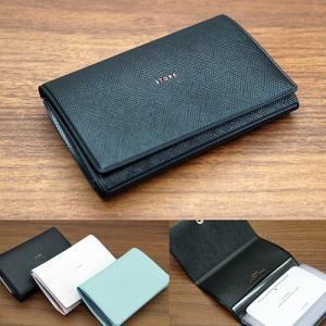 ADELE 10Pカードケース ターコイズ ブラック メール便OK|s-bunkadou