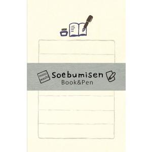 レターセット そえぶみ箋【Book&Pen】 LS308-300【古川紙工】メール便OK|s-bunkadou