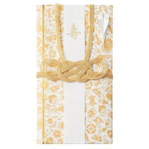 【マルアイ】めでたがさね 金封 キ-MG10GO 金 / お祝い お祝儀袋 活版印刷 シルク 柄 祝儀袋 結婚式 婚礼祝【メール便OK】|s-bunkadou