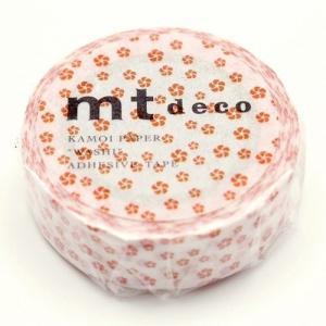 mt  1P ねじり梅・朱(しゅ)MT01D427(カモ井)和柄 マスキングテープ マステ ギフト プレゼント (メール便OK) s-bunkadou