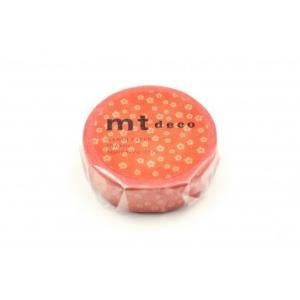 mt  1P ねじり梅・赤橙(あかだいだい)MT01D429(カモ井)和柄 マスキングテープ マステ ギフト プレゼント (メール便OK) s-bunkadou