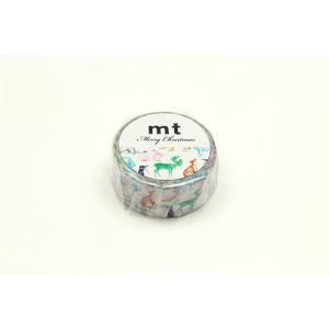 mt 限定 クリスマス2019 ウィンターアニマル MTCMAS104(カモ井)マスキングテープ プレゼント (メール便OK)|s-bunkadou