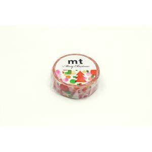 mt 限定 クリスマス2019 水彩クリスマス MTCMAS106(カモ井)マスキングテープ プレゼント (メール便OK)|s-bunkadou