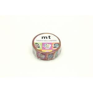 mt ハロウィン2019 ハロウィンキャラクターズ 15mm×7m MTHALL17 カモ井 マステ メール便OK|s-bunkadou