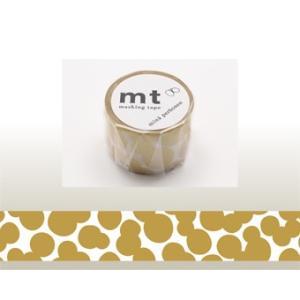 マスキングテープ/mt×mina/ミナ ペルホネン【 soda water・gold 】MTMINA32/35mm x 10m【カモ井】カード/ラッピング|s-bunkadou