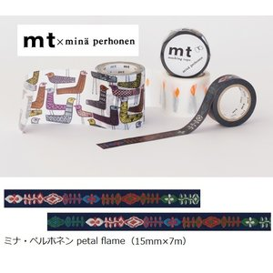 mt×ミナペルホネン MTMINA38 カモ井 petal flame 15mm×7m ラッピング mina perhonen メール便OK|s-bunkadou