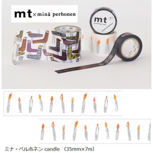 mt×ミナペルホネン MTMINA39 カモ井 candle 35mm×7m ラッピング mina perhonen メール便NG s-bunkadou