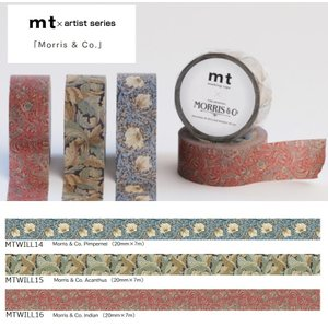 mt ×Morris & Co. ウィリアム・モリス MTWELL カモイ マスキングテープ マステ ギフト プレゼント メール便OK|s-bunkadou